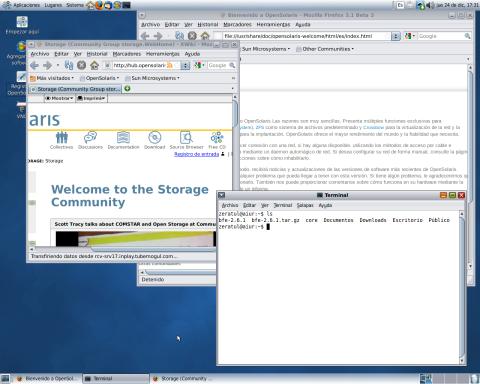 Escritorio OpenSolaris